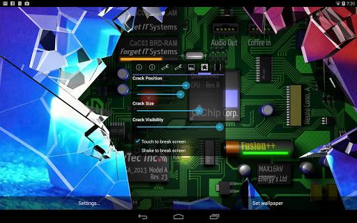 Cracked Screen Gyro 3D PRO Parallax Wallpaper HD 이미지[3]