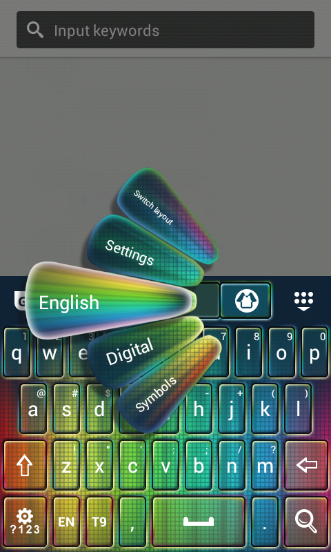 Keyboard Super Color - screenshot