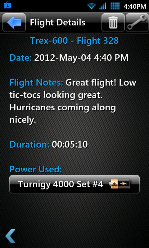 T3chDad® RC Flight Log- screenshot