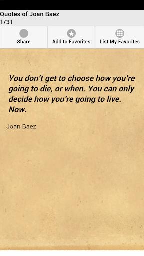 Quotes of Joan Baez