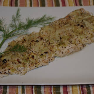 Broiled White Fish With Lime Pepper And Fennel.