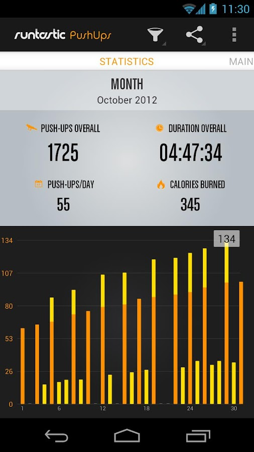 Runtastic Push-Ups Workout - screenshot