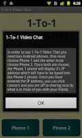 Screenshot of 1-To-1 Video Chat