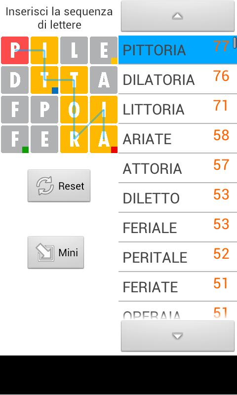 Ruzzle Solver - French - screenshot