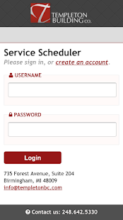 Templeton BC Service Scheduler- screenshot thumbnail