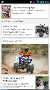 ATV UTV ACTION Magazine - screenshot thumbnail