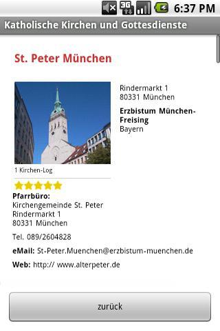 Kath. Kirchen & Gottesdienste – Screenshot