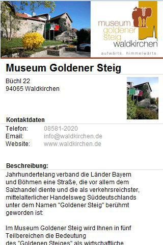 Museum goldener Steig- screenshot