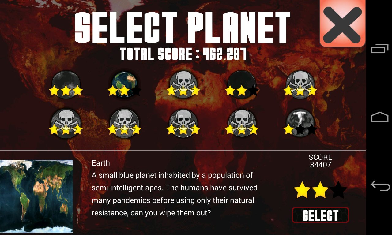 Universe Pandemic- screenshot