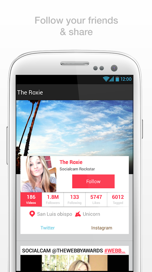 Socialcam - screenshot
