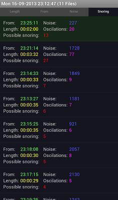 Dream Watcher - Snore Recorder - screenshot