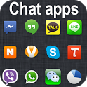 Whatsapp v Viber Facebook Skyp icon