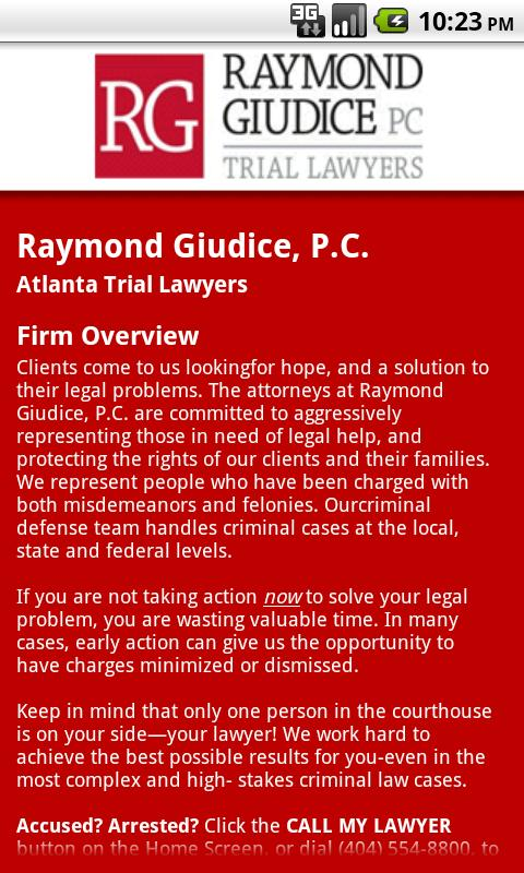 Raymond V. Giudice DUI LAW - screenshot