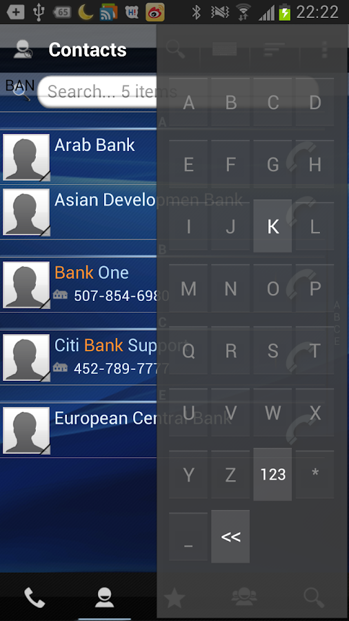RocketDial Dialer&Contacts Pro - screenshot