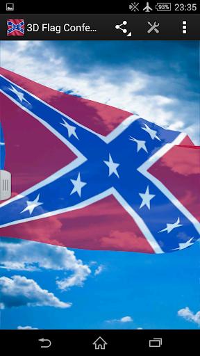 3D Flag Confederate States