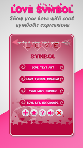 Love Symbol - Love Text Art