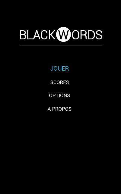 BlackWords - screenshot