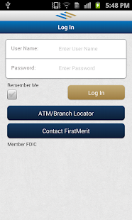FirstMerit Mobile Banking Screenshot 1