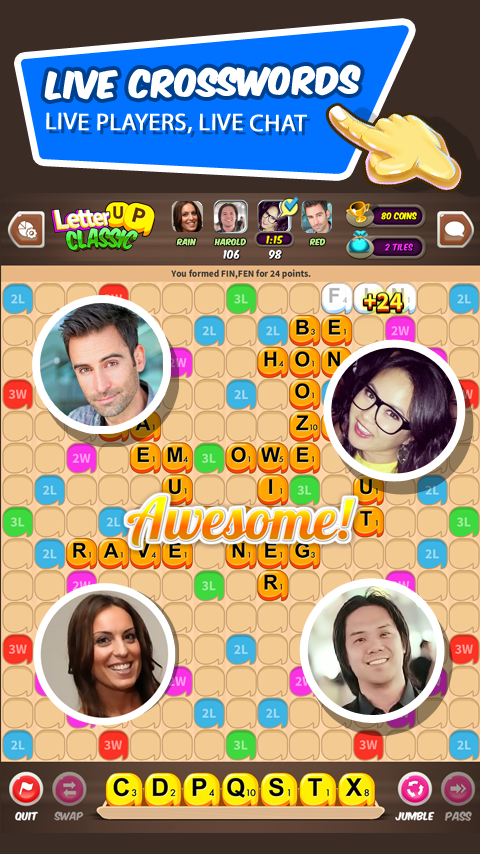 Letter UP: Live Word Game- screenshot