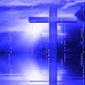 Blue Watery Cross LWP