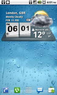 Download 3D Digital Weather Clock APK for Android Kitkat