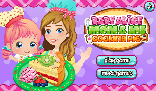 Baby Alice Cooking Pie