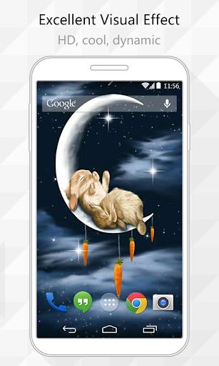 Sleep Rabbits Live Wallpaper