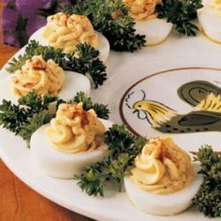 Lemon-Curry Deviled Eggs.