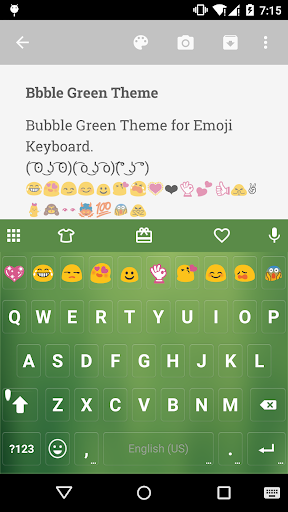 Bubble Green Emoji Keyboard