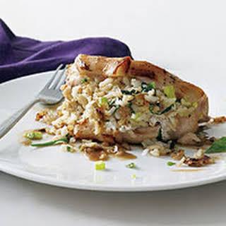 Jasmine Rice-Stuffed Pork Chops.