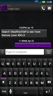 GO SMS Black Purple Theme - screenshot thumbnail