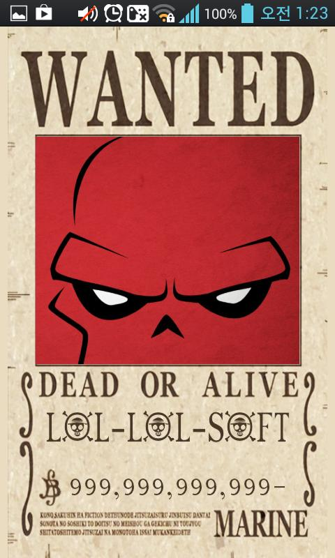 OnePiece WANTED Poster Maker - screenshot