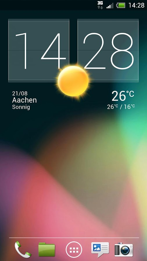 Holo Light - Sense 4 HD Skin - screenshot