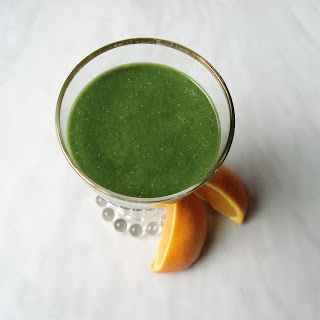 Anti-Inflammatory Orange Avocado Chia Smoothie.