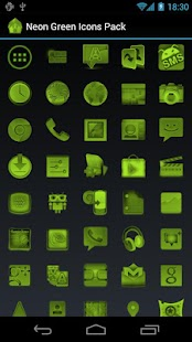 Neon Green Icons Pack - ADW GO - screenshot thumbnail