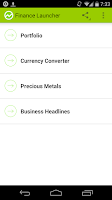 Screenshot of Finance Launcher