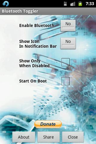 Bluetooth Toggler