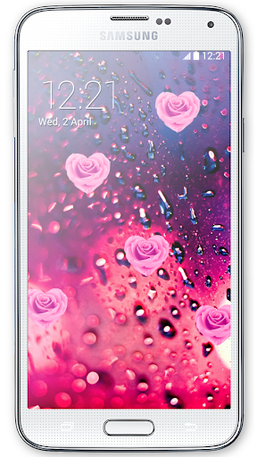 Pink Rose Love Live Wallpaper