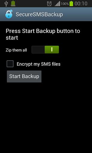 Secure SMS Backup