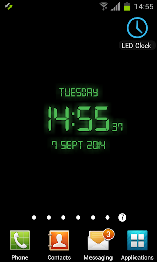LED Clock Live Wallpaper