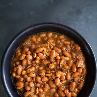 Slow Cooked Boston Baked Beans.