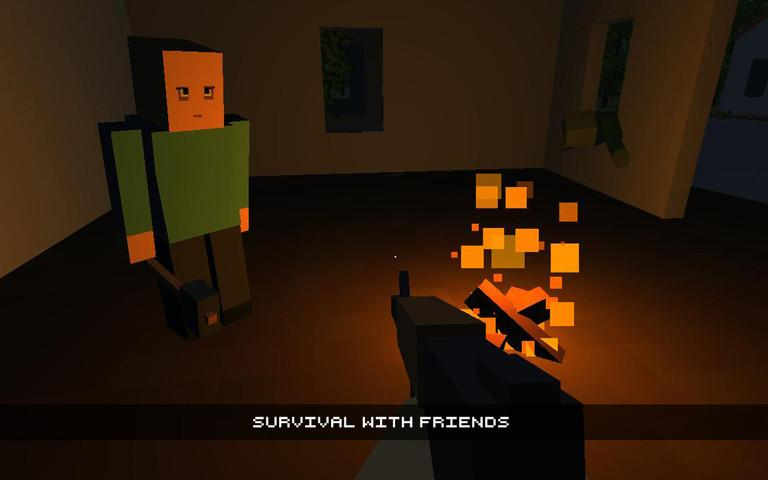 Cube Gun 3d Zombie