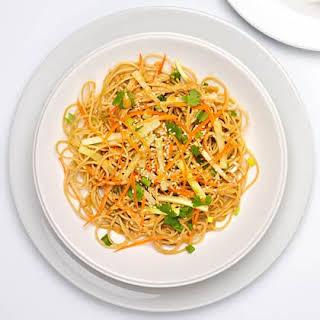 Cold Sesame Noodles with Vegetables.