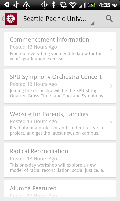 SPU Mobile - screenshot