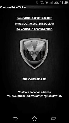 Vootcoin VOOT price ticker