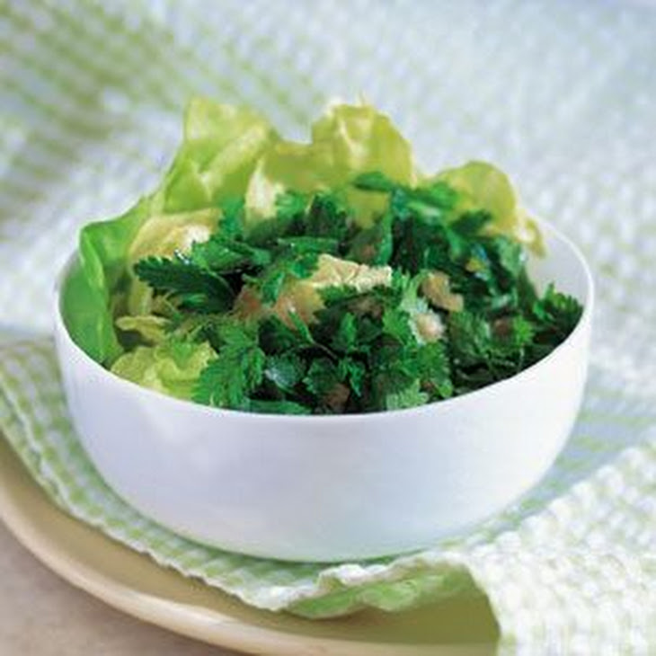 Green Herb Salad with Champagne Vinaigrette Recipe
