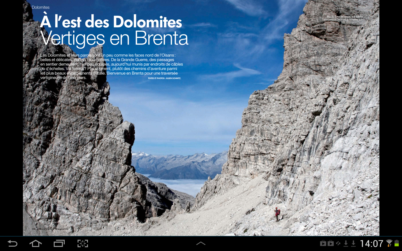 Montagnes Magazine- screenshot