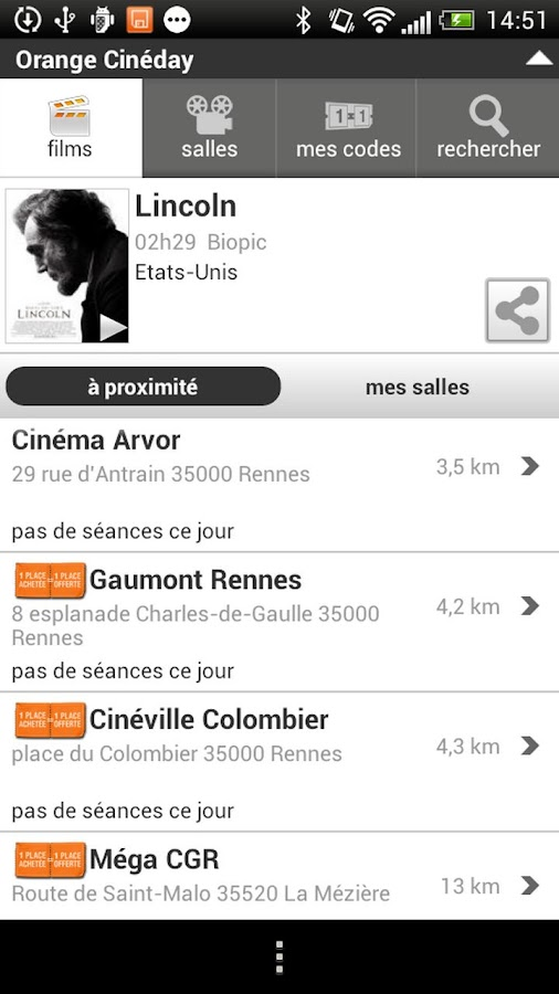 Orange Cineday - screenshot