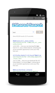 2Shared Search - screenshot thumbnail