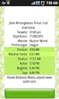 Screenshot of shalat doa